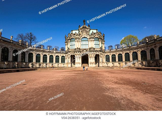 The picturesque Zwinger (Dresdner Zwinger) in Dresden, Saxony, Germany, Europe
