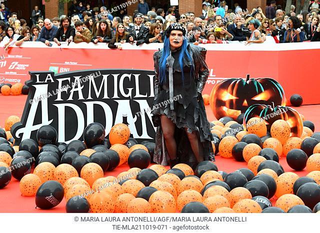Loredana Berte' during the red carpet of cartoon ' La famiglia Addams ' at the 14th Rome Film Festival, Rome, ITALY-20-10-2019