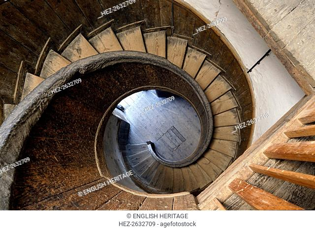Circular Staircase Leading Down To The Water Bastion, Upnor Castle, Upper  Upnor, Kent