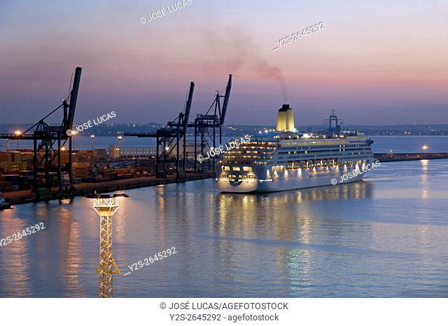 Transatlantic AURORA, Port, Cadiz, Region of Andalusia, Spain, Europe