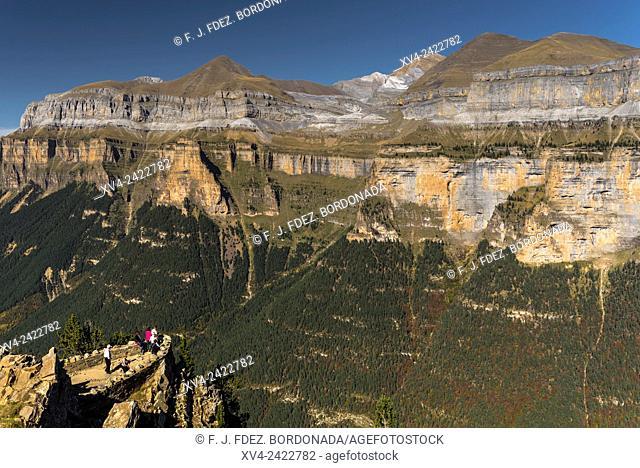 View point called Cutas at Ordesa and Monte Pedrido National Park, Huesca Pyrenees, Aragon, Spain