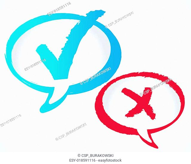Vector check mark speech bubble