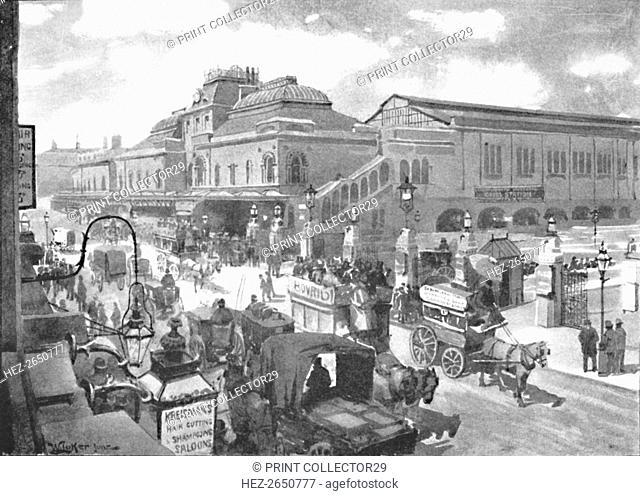 'Liverpool Street Station', 1891. Artist: William Luker