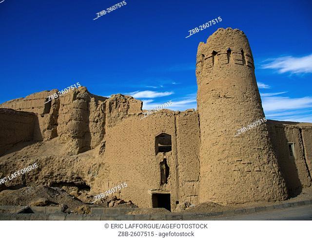 Iran, Ardakan County, Aqda, old citadel tower