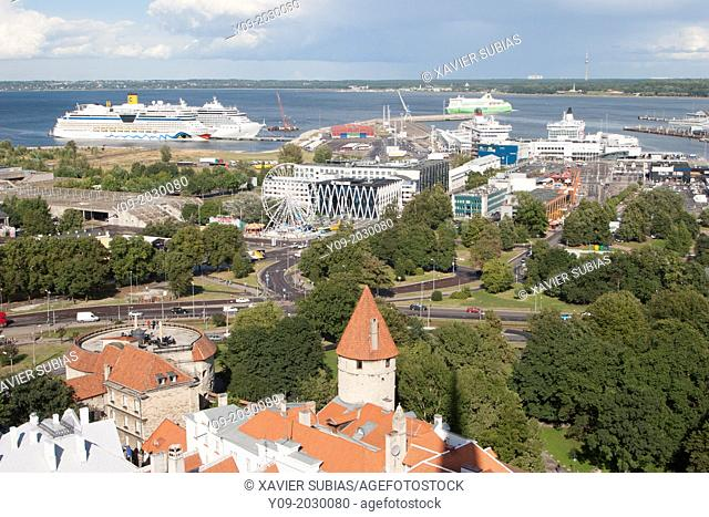 View of Tallinn, Tallinn, Harju, Estonia