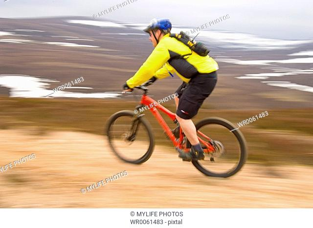 riding top of hill