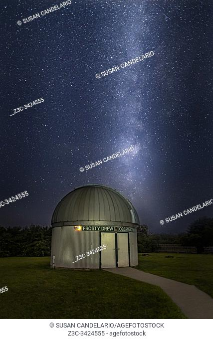 Milky Way Rising Over Observatory