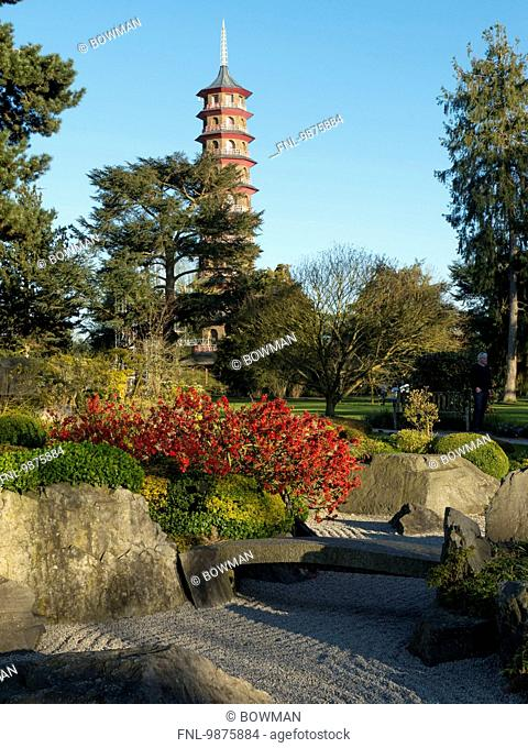 The Chinese Pagoda, Royal Botanic Gardens, London Borough of Richmond upon Thames, London, England, Great Britain, Europe