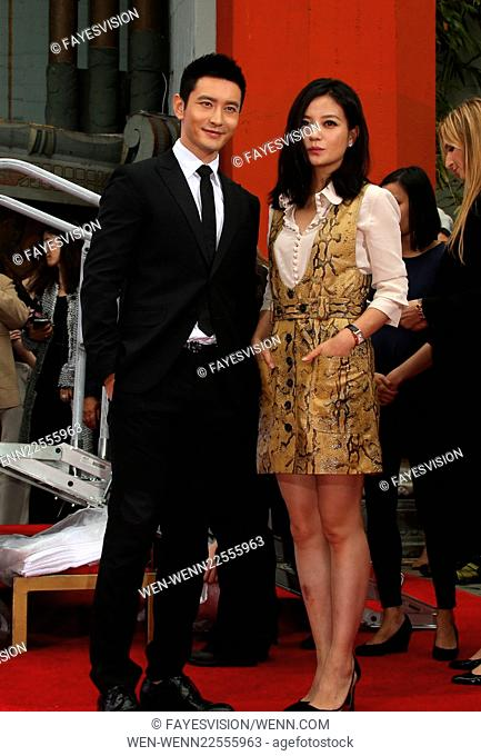 Hand Print/Birthday Bash Ceremony at the TCL Chinese Theatre IMAX Featuring: Huang Xiaoming, Zhao Wei Where: Hollywood, California