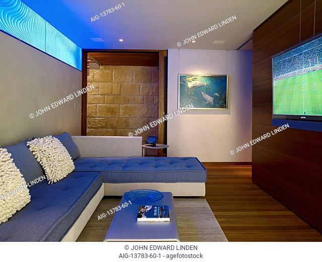 Living room in Odyssey House, Carmel, California, USA