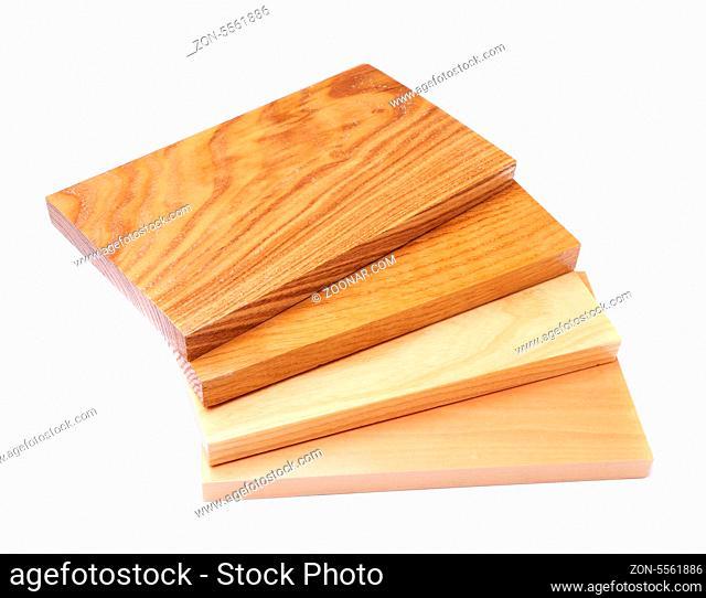 Four boards (acacia, oak, elm, lime) fan