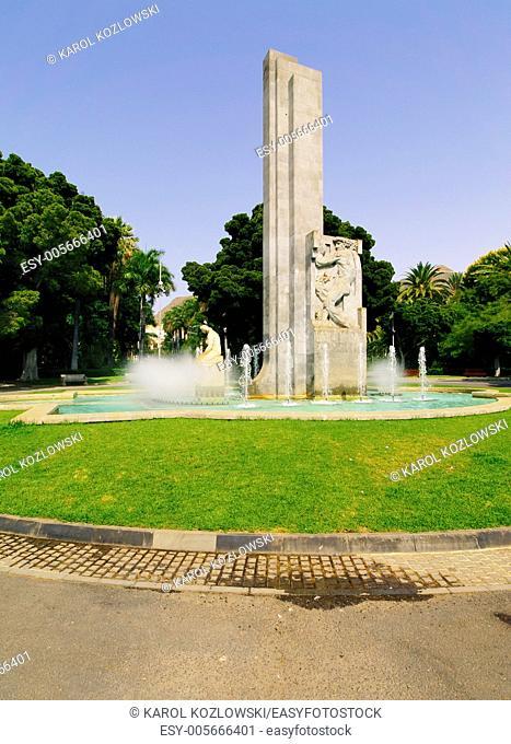 Park in Santa Cruz - capital city of Tenerife, Canary Islands, Spain