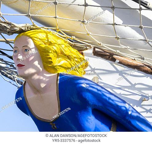 Las Palmas, Gran Canaria, Canary Islands, Spain. 18th December 2018. Norwegian tall ship Christian Radich in Las palmas port