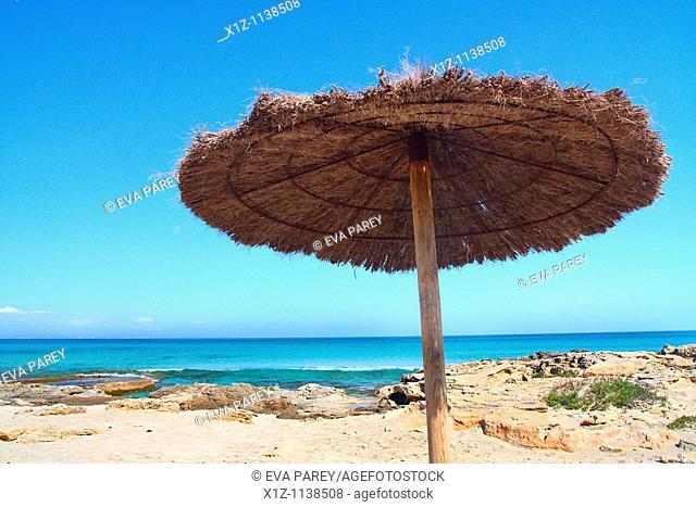 Ses platgetes near the Caló of Sant Agustí in the island of Formentera Baleares, Spain