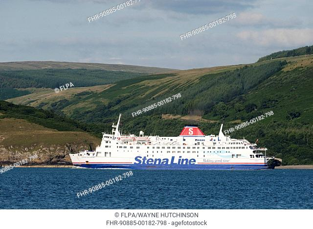 Car ferry on Scotland to Northern Ireland route from Stranraer and Cairnryan, Loch Ryan, Dumfries and Galloway, Scotland