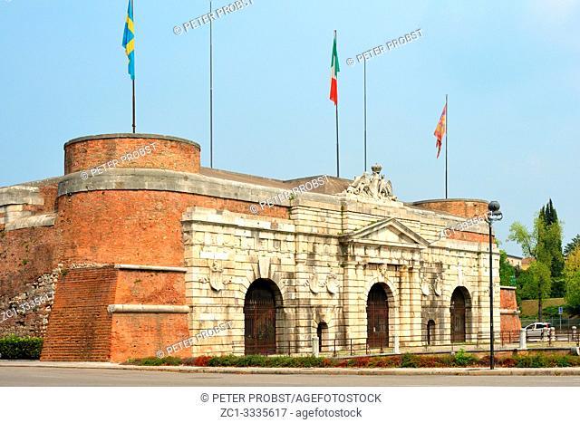 Old city gate Porta Nuova of Verona from the 16th century - Italy
