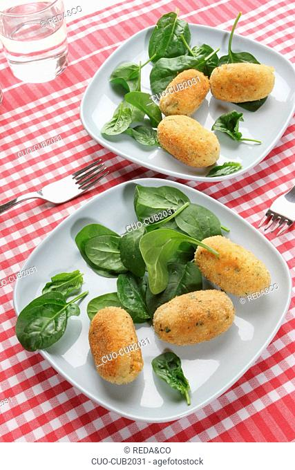 Croquette of Cannellini beans, Italy