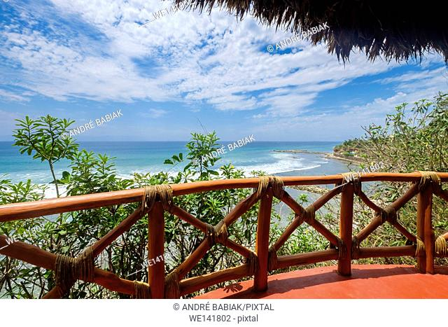 Palapa terrace with ocean view - Upscale Mexican Residence, Punta de Mita, Riviera Nayarit, Mexico