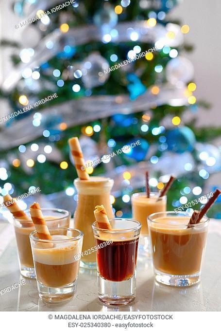 Different espresso shots, Latte and Cappuccino