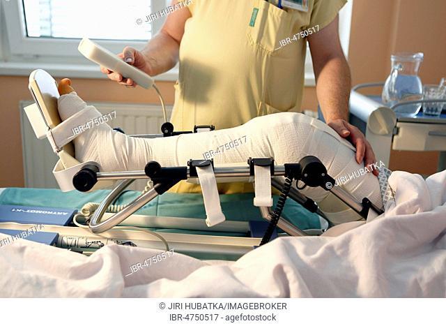 Rehabilitation, patient, hospital room, surgery department, health service, hospital, Czech Republic