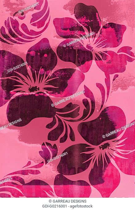 Pink tropical flower design