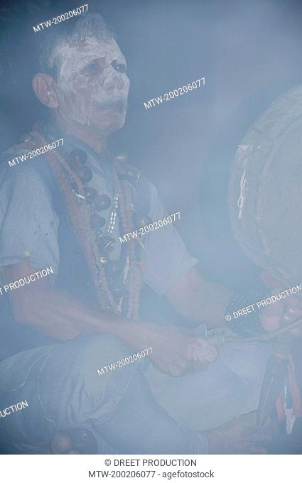 Drumming Tamang Shaman, Nepal