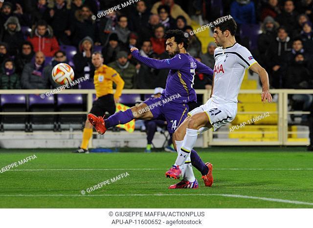 2015 Europa League Fiorentina v Tottenham Hotspur Feb 26th. 26.02.2015. Florence, Italy. Europa League Football. Fiorentina versus Tottenham Hotspur