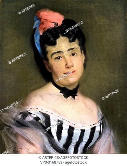 Gonzales Eva - Portrait of Mme E. G
