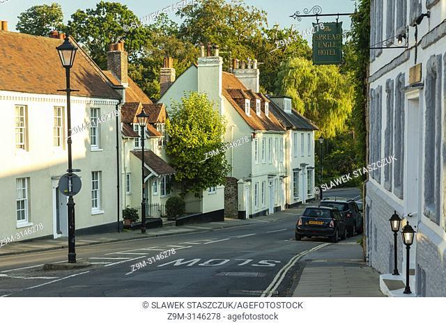 Summer evening in Midhurst, West Sussex, England