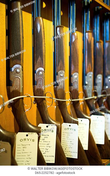 USA, Manchester Center, the Orvis store, hunting and fishing mecca, Beretta shotguns