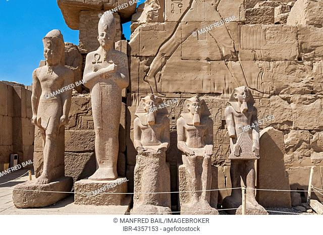 King Statues in Karnak Temple, Karnak, Luxor, Egypt