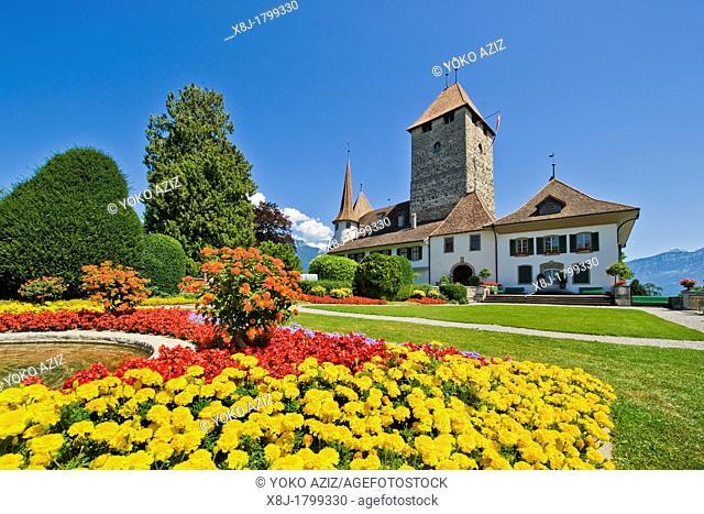 Switzerland, Canton Bern, Spiez, medieval castle