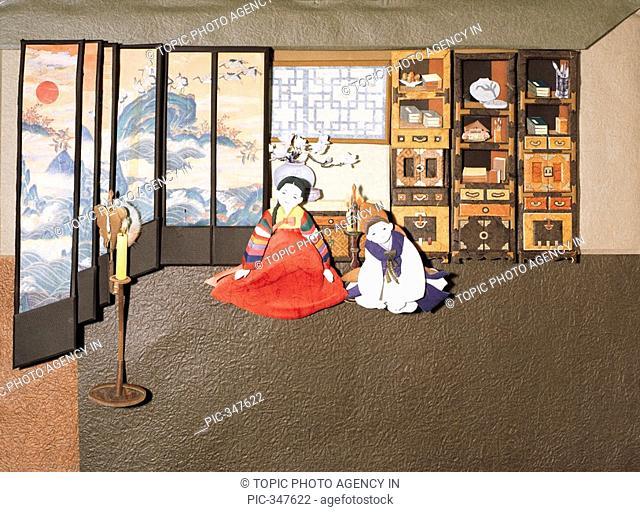 Paper Illustration, children in Korean costume
