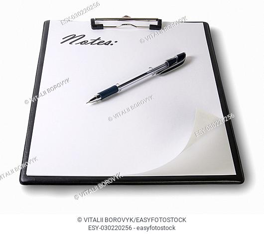 Clipboard With Pen Isolated On White Background