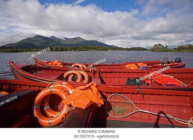 Lough Leane, Killarney National Park, County Kerry, Ireland, Tour boats