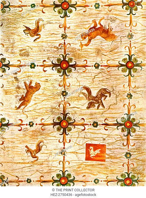 Ceiling decoration in Nero's Domus Aurea, Rome, Italy, (1928). Creator: Unknown