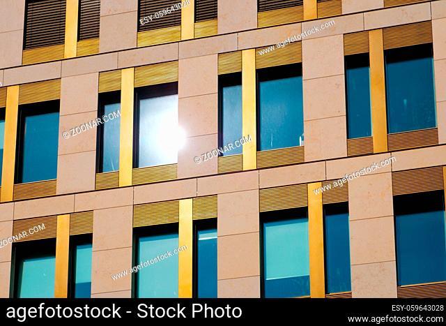 modern building facade - office real estate exterior
