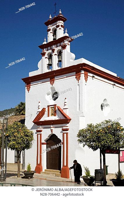 Santisima Trinidad chapel, Almonaster la Real, Sierra de Aracena y Picos de Aroche Natural Park. Huelva province, Andalucia, Spain