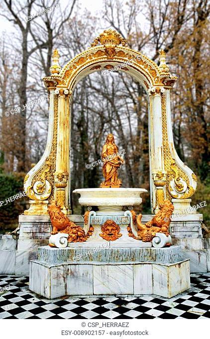 Fountain at palace gardens of La Granja de san Ildefonso , Segovia castile and Le?n Spain
