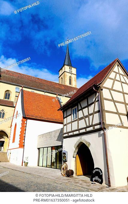 St. Vitus church, Iphofen, Kitzingen district, Lower Franconia, Bavaria, Germany / Stadtpfarrkirche St. Vitus, Iphofen, Landkreis Kitzingen, Unterfranken