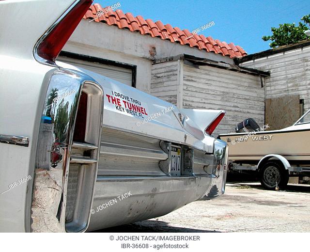 USA, Florida, Miami Beach: Old Cadillac