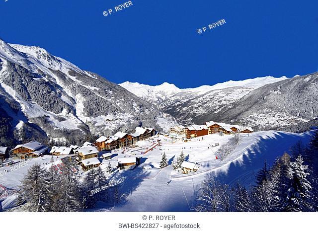 ski resort Sainte Foy Tarentaise, France, Savoie, Sainte-Foy-Tarentaise