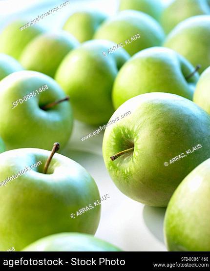 Green apples, full frame