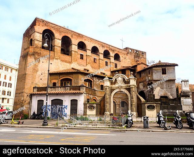 Porta Salaria was part of the Aurelian Walls built by emperor Aurelian in the 3rd century - Rome, Italy