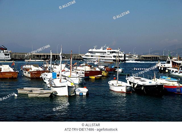 FISHING & PLEASURE BOATS IN HARBOUR; MARINA GRANDE, ISLAND OF CAPRI, ITALY; 17/09/2011