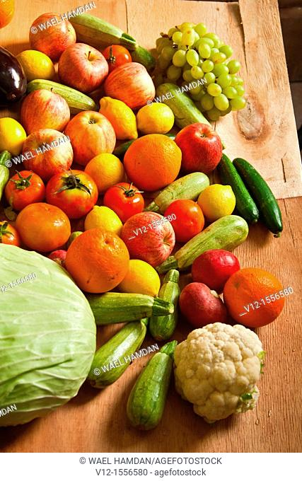 Bunch of Fruits and Vegetables