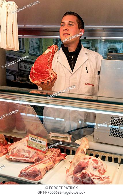 EDOUARD DARMIGNY, BUTCHER, COVERED MARKET, CHARTRES (28), FRANCE