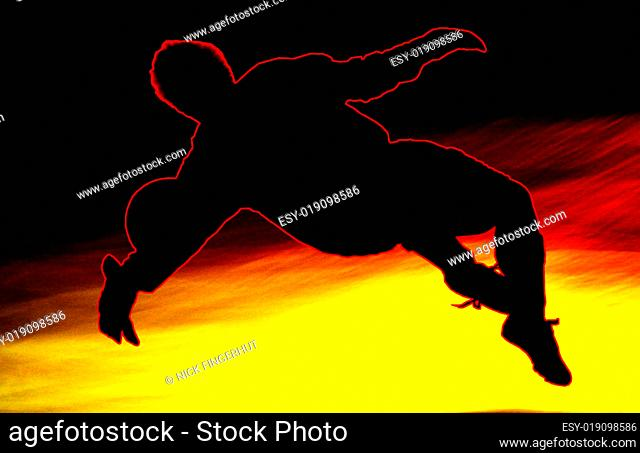 Man across football Stock Photos and Images | age fotostock