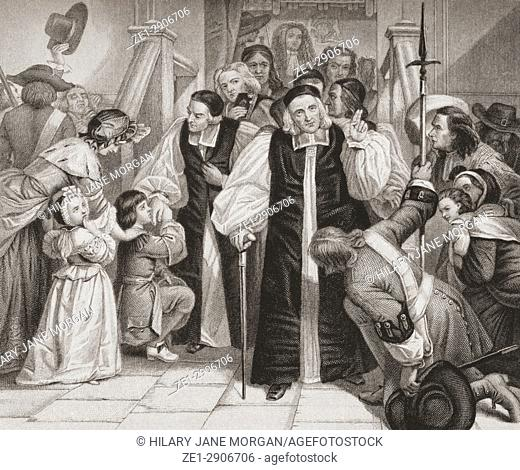 The release of the seven bishops after their trial in Westminster Hall June 29, 1688. King James II brought the proceeding against seven prominent bishops of...