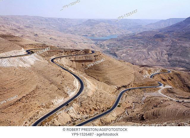 The King's Highway at Wadi Mujib, Jordan